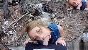 My real girlfriend public pov blowjob big natural...