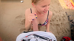 Doggystyle in swimsuit sexy teen sucks big cock...
