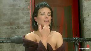 Sexy thin huge boobs has massive orgasmswhile neck...