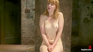 Tall sexy red head nipples cum whipped and...