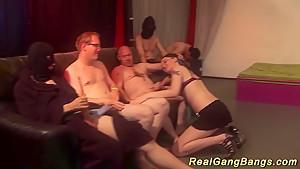 Gangbang orgy with...