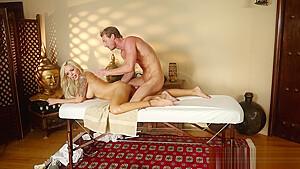 Spermed by masseur...