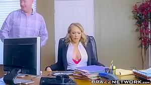 Karter getting rough pounding on office desk...