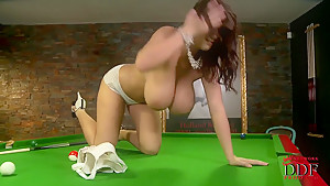 Posing right on billiard table...