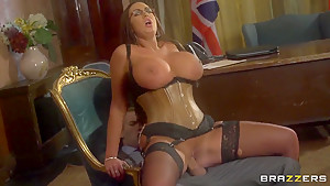 Busty brunette seduces young and perspective politician danny...