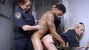 Cops get into a foursome black dude ready...