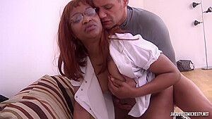 Black corinne is getting fucked from the back...