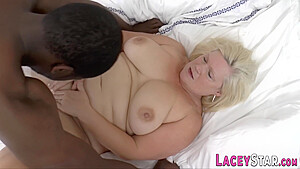 Big Bust Blond Grandmother Sucking Black Male Pole