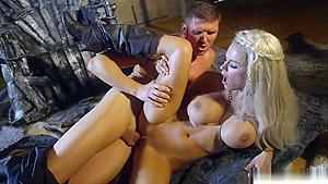 Big titted blondie jensen pussy banged...
