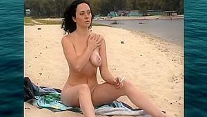 Nudism 01 smoking into water...