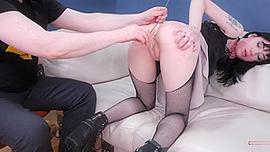Teen goth and punished with piss...