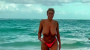 And nude on tropical beach...