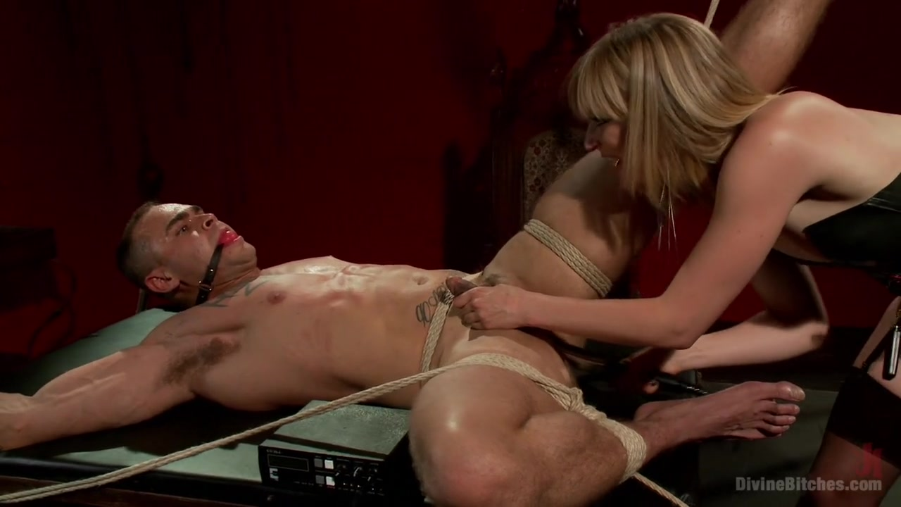 ELECTRO FEMDOM: Mona Wales Electrically Teases and Tortures Slave Boy