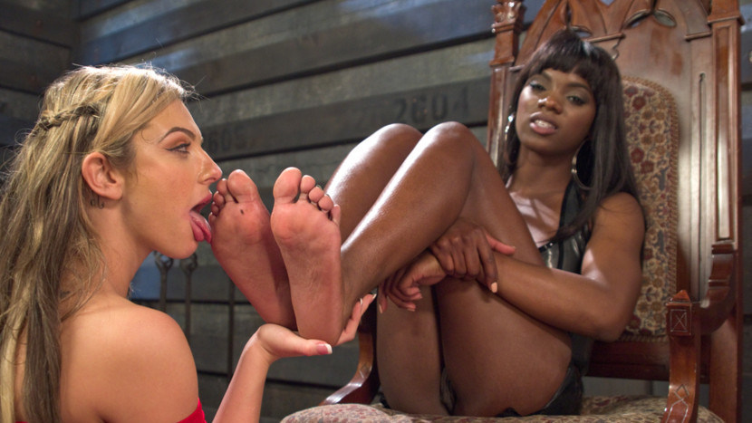 Amazing fetish adult video with horny pornstars Dahlia Sky and Ana Foxxx from Footworship