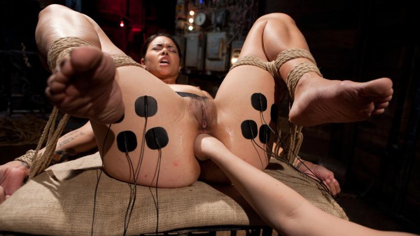 Crazy lesbian, blonde xxx scene with hottest pornstars Aiden Starr and Dana Vespoli from Wiredpussy