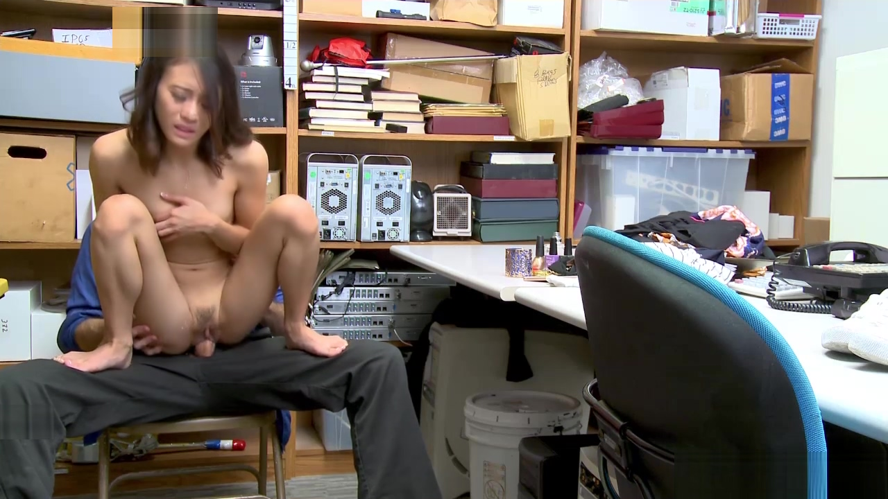 Sucking a huge cock could be yucky for busted shoplyfter Jasmine Grey