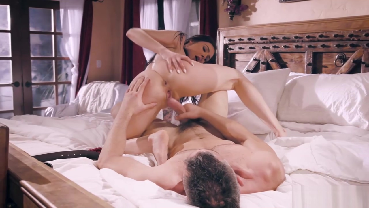 Stepdad pounding Marley Marley Brinx wet pussy deep on top of his cock