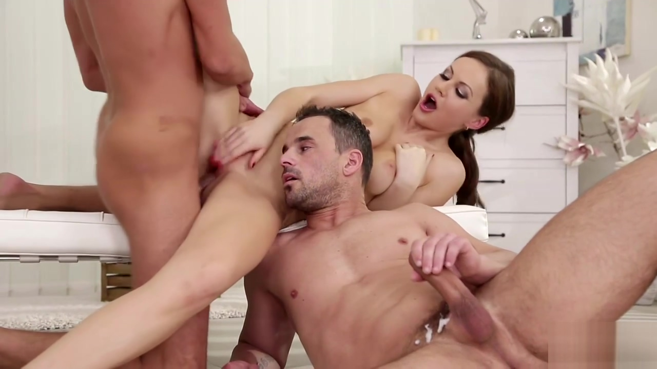 Nick Gill and Andy West took turns fucking Tina Kay like a spreadeagle