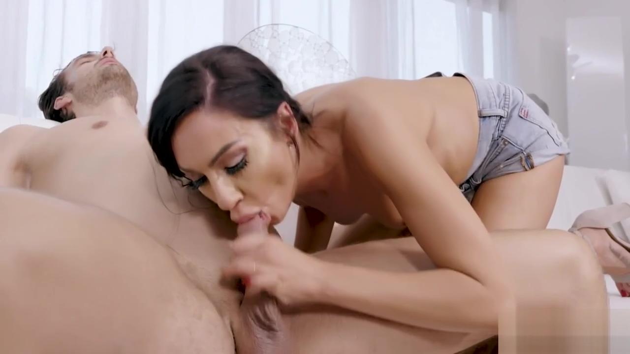 Horny slut with long nipples deepthroated