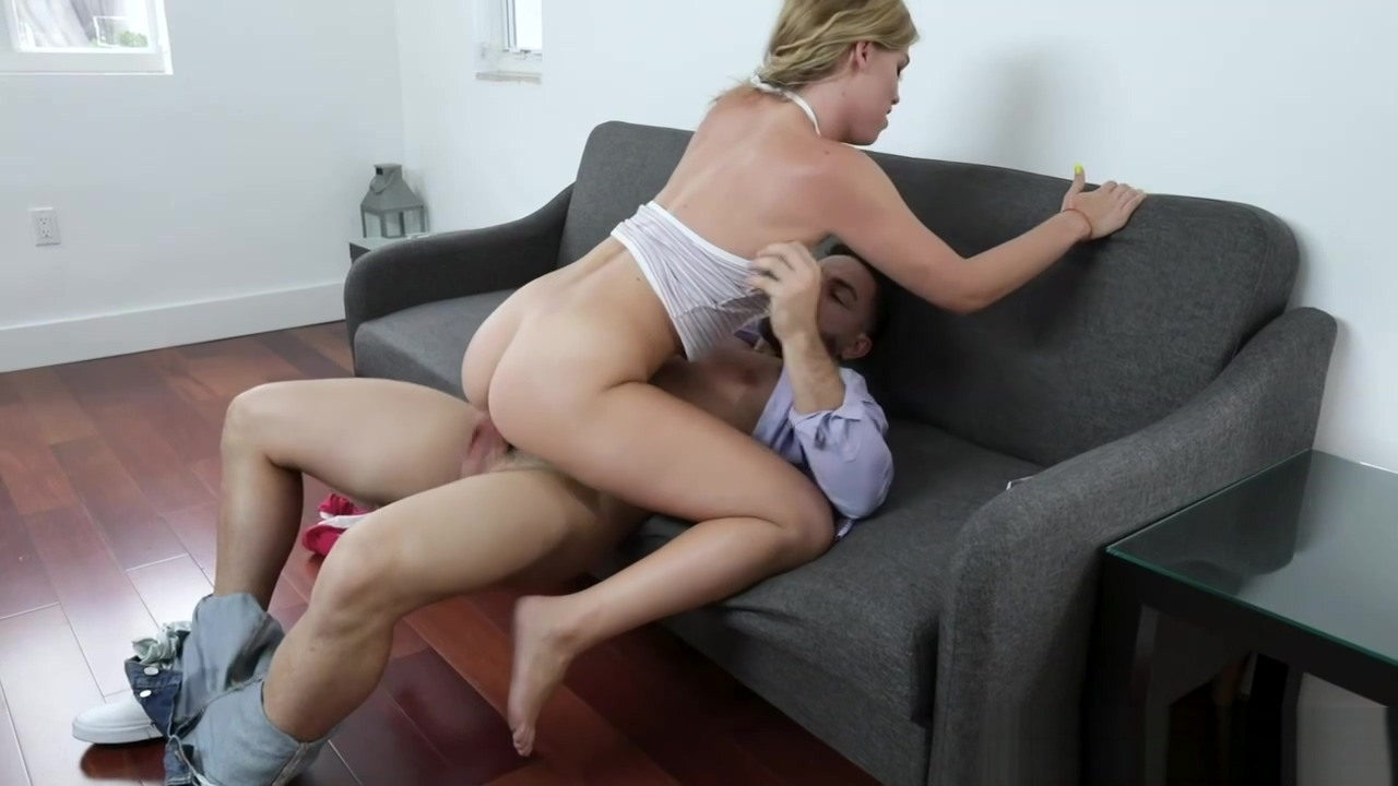 Leah Lee Choking On Stepbrothers Dick Blowing Him Off
