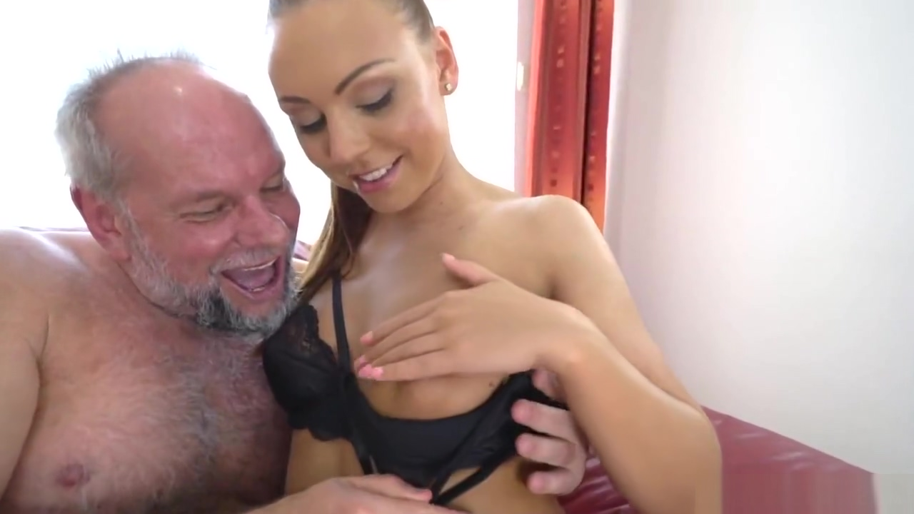 Ornella Morgan Fuck Grandpa Alber and Swallows his Cum