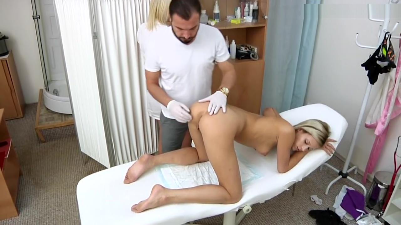 Ria Sunn Gyno Exam With Vaginal Ultrasoundenema And Ecg During Orgasm