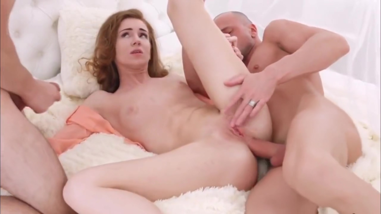 Bewitching Young Melissa Benz Is Shared By 2 Lucky Men Hd