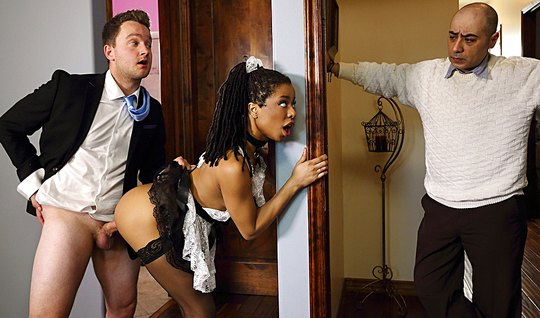 The Mulatto In The Uniform Of A Maid Cheating With Her Hot Lover