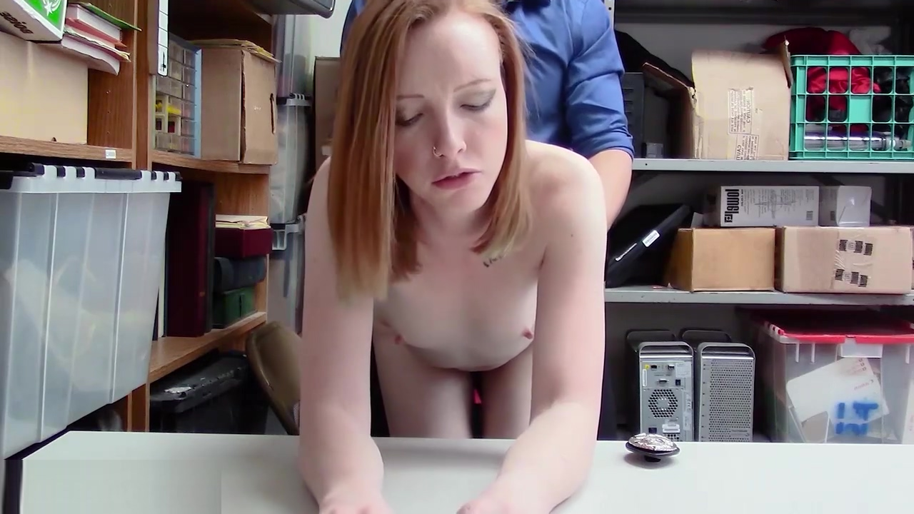 Red Head Young Thief Pays With Hairy Pussy For Freedom