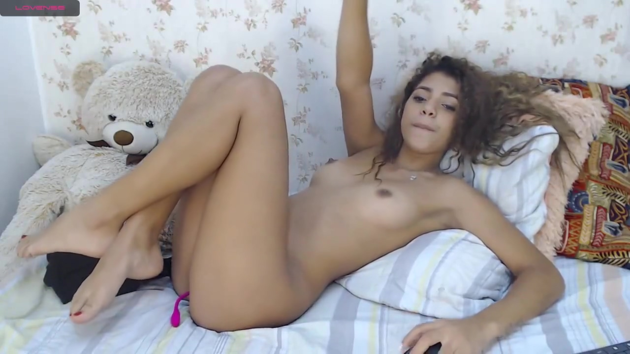 Curly Latina Young Gets Her Cunt Fingered