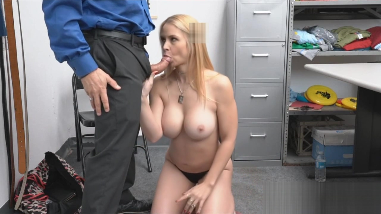 Big Titted Blonde Mom Gets On Her Knees At The Office