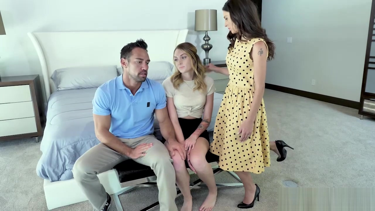 Charlotte Sins 3some Workout Session With Foster Parents