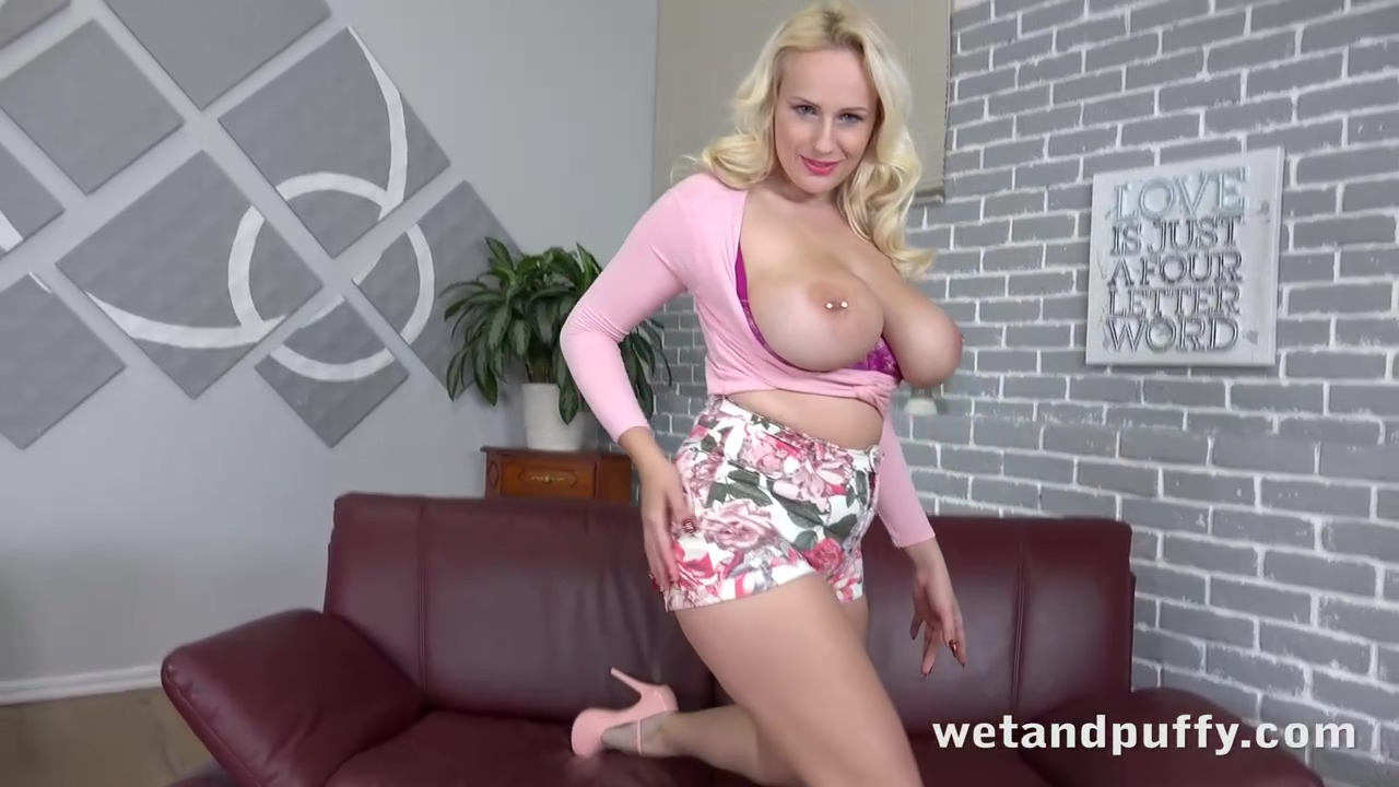 Curvy Cougar With Pierced Nipples Angel Wicky Is Lying On The Sofa And Eagerly Sucking A Big Dildo
