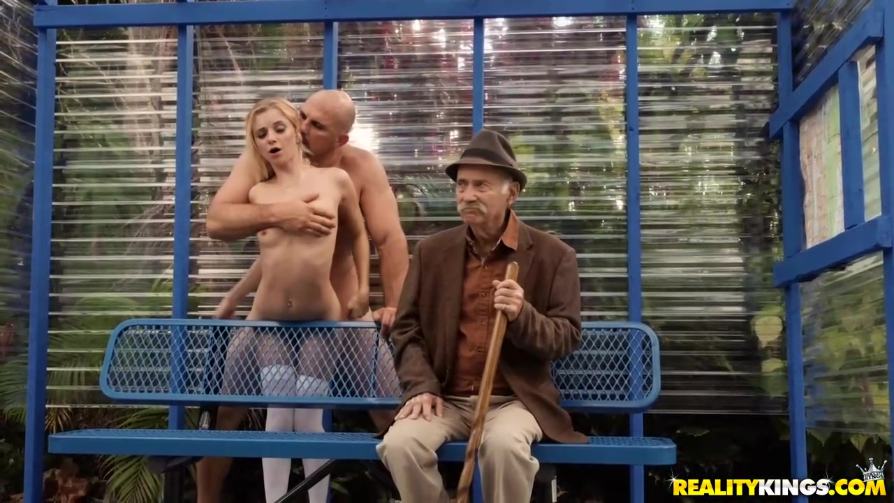 Petite Blonde Babe Riley Star Is Sucking And Riding Cock On A Bus Station During The Day
