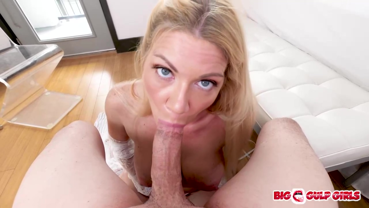Insatiable Blonde Nympho With Big Breasts Christina Skye Sucked Her Young Lovers Penis Until He Came
