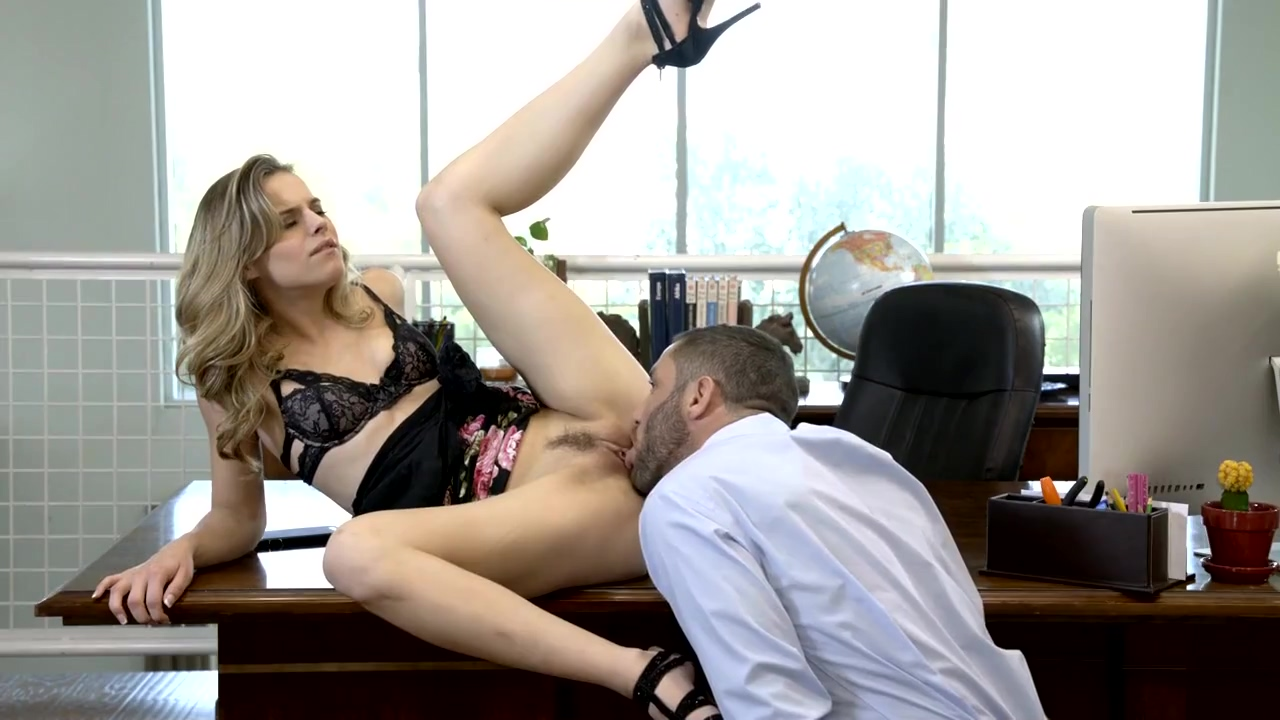 Pulled Up His Dress And Tore Off The Secretary Blonde On The Table
