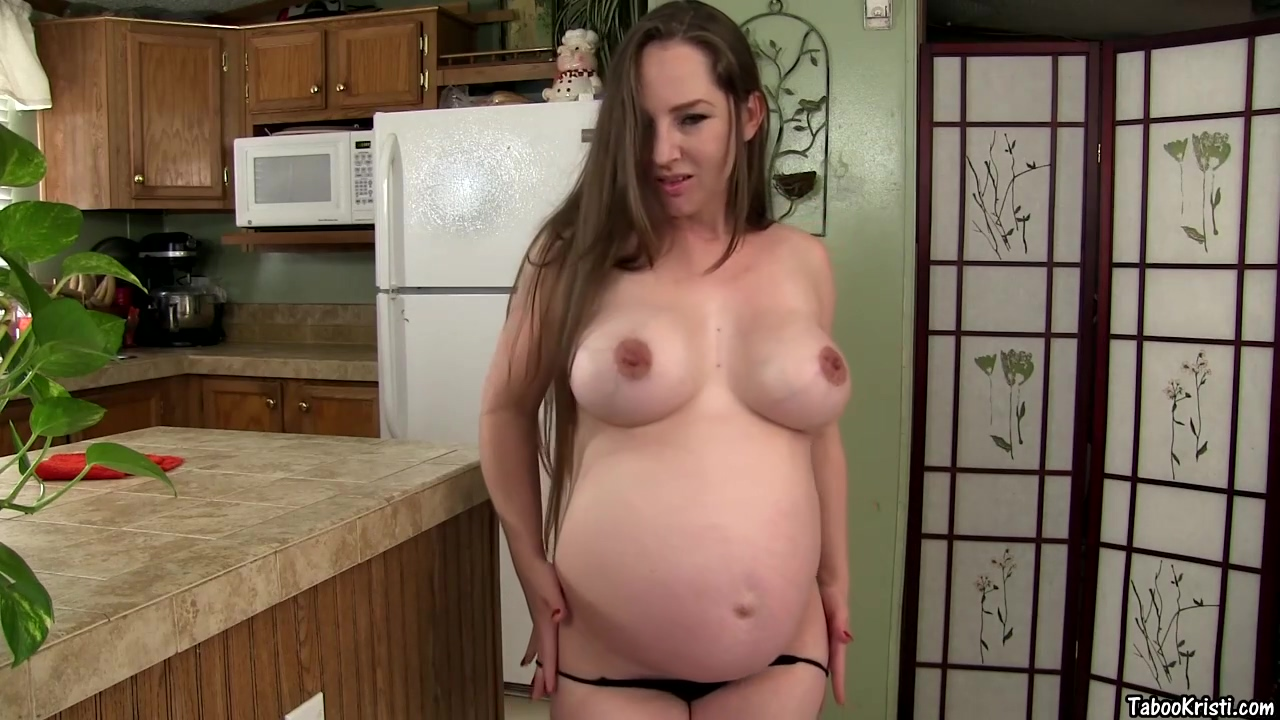 Pregnant Kristi Seduced Her Step Son Because Her Plan Was To Give Him A Deep Bj