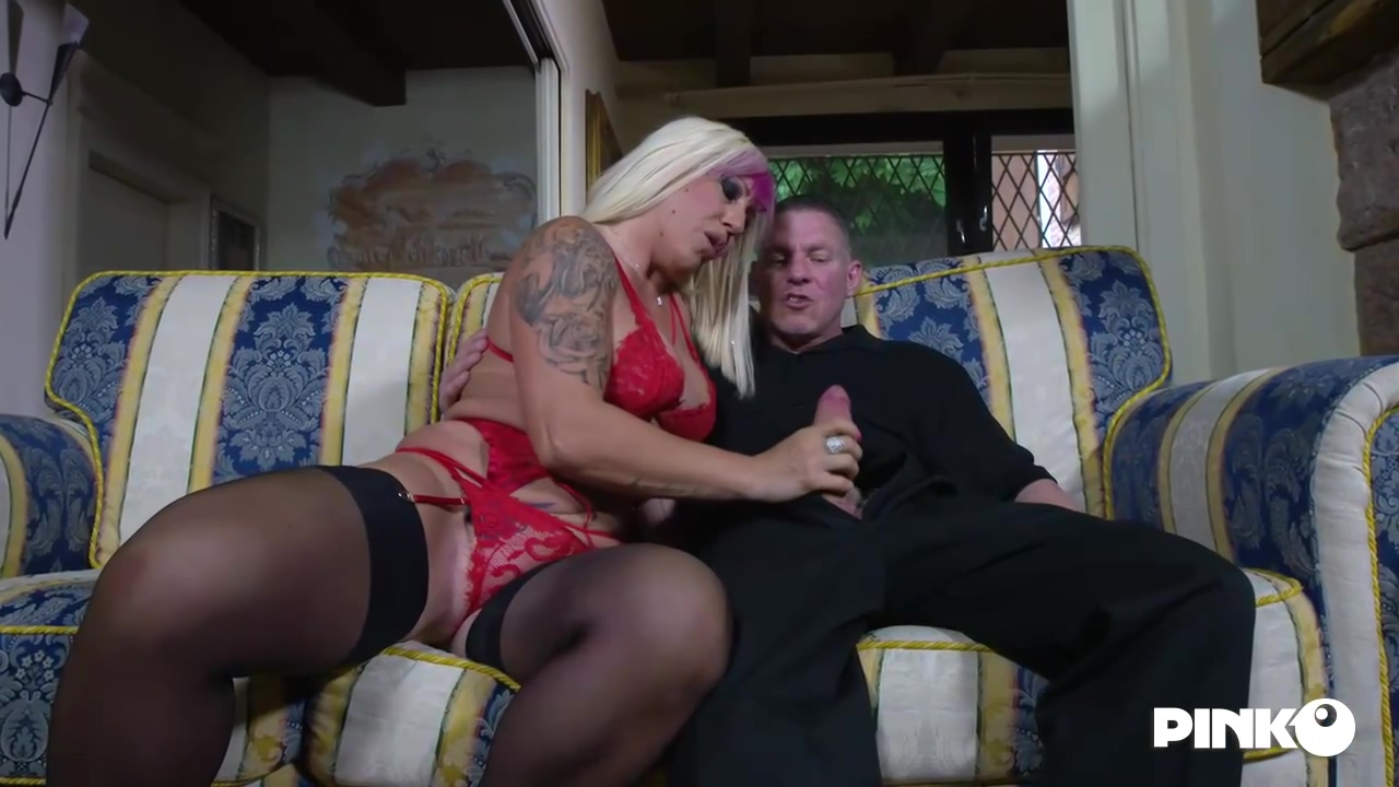 Christie Dom Is Moaning While Two Younger Guys Are Fucking Her Brains Out At The Same Time