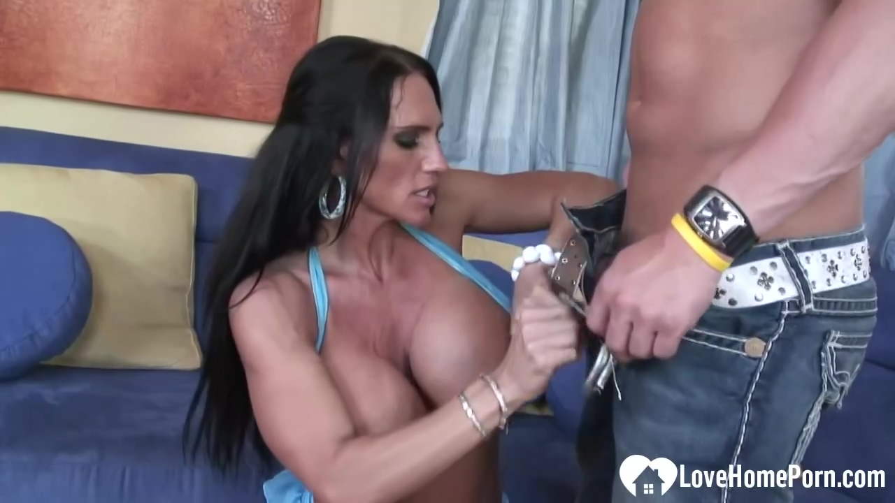 Hot Brunette Milf With Huge Boobs Is Riding A Rock Hard Penis On The Couch