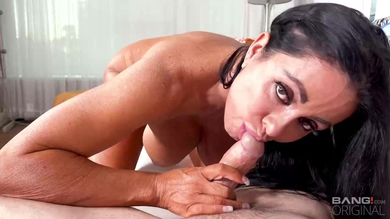 Simone Garza Is A Smashing Black Haired Cougar Who Likes To Make Porn Videos Every Single Day