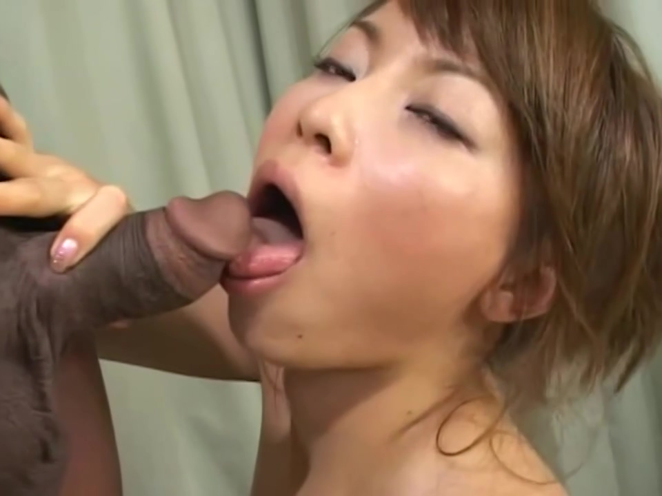 Very Hot Japanese Babe Is Sucking Her Black Neighbors Cock Instead Of His Mother And Getting Fucked