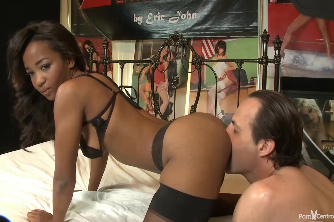 Afro-american Slutty In Sexy Black Stockings Ivy Sherwood Got Fucked Hard In Front Of The Camera