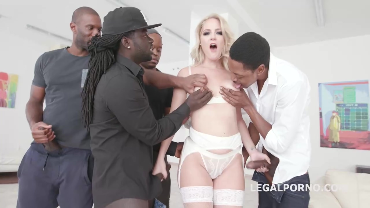 Black guys are waiting in line to fuck Lisey Sweet and cum on her cute face