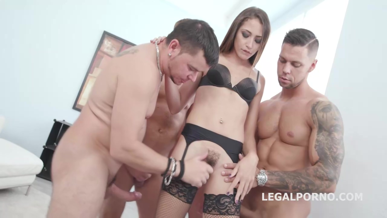 Teen Brunette With Hairy Pussy Avi Love Got Fucked In The Butt During A Casual Gangbang