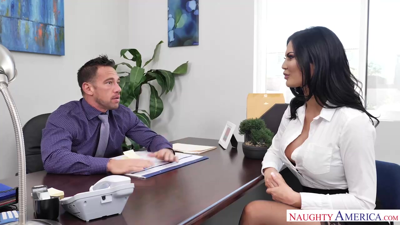 Brunette With Huge Tits Jasmine Jae Is Wearing Sexy Stockings And Fucking Her Boss In The Office