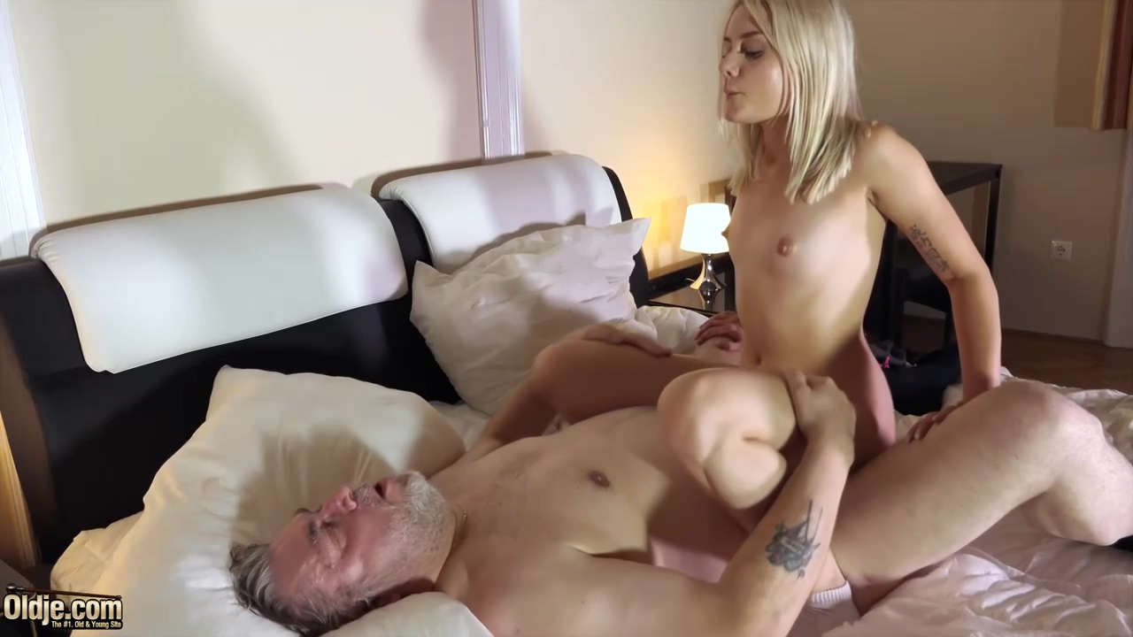 Cute Blonde Scarlett Knight Asked An Elderly Guy To Eat Her Cunt And Fuck Her Brains Out