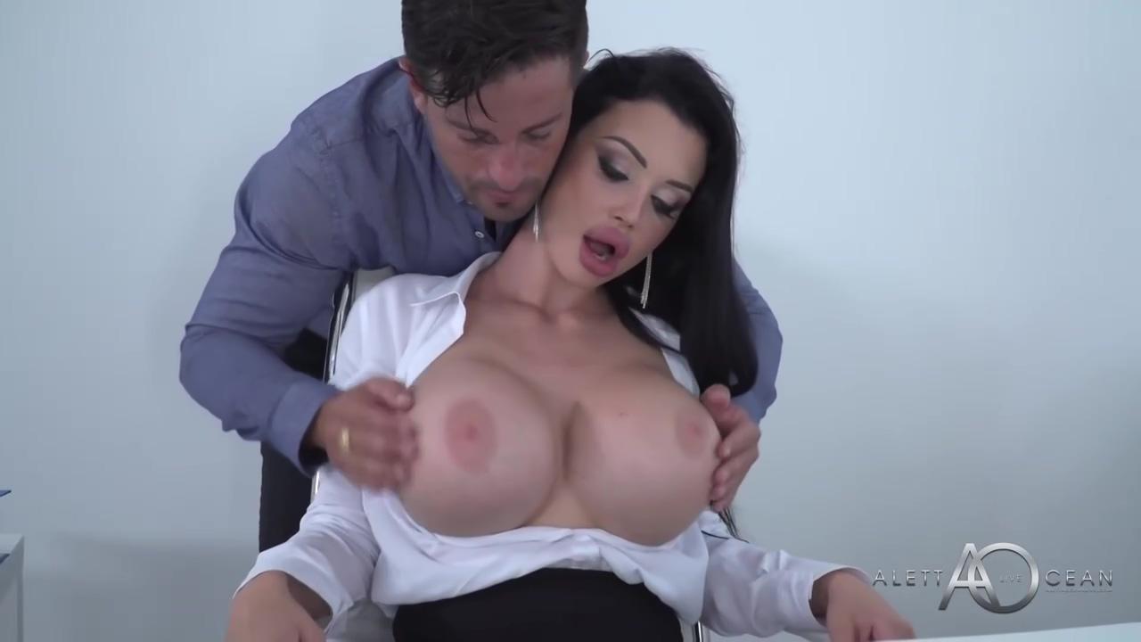 Dark Haired Slutty Cougar Secretary Aletta Ocean Is Sucking Her Manager Off For A Quarterly Bonus