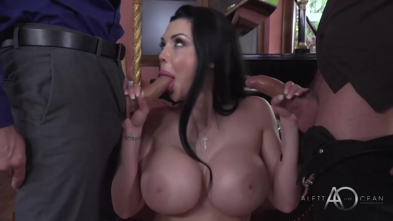 Gorgeous French Brunette With Great Boobies Aletta Ocean Likes To Get Fucked While Sucking Dick
