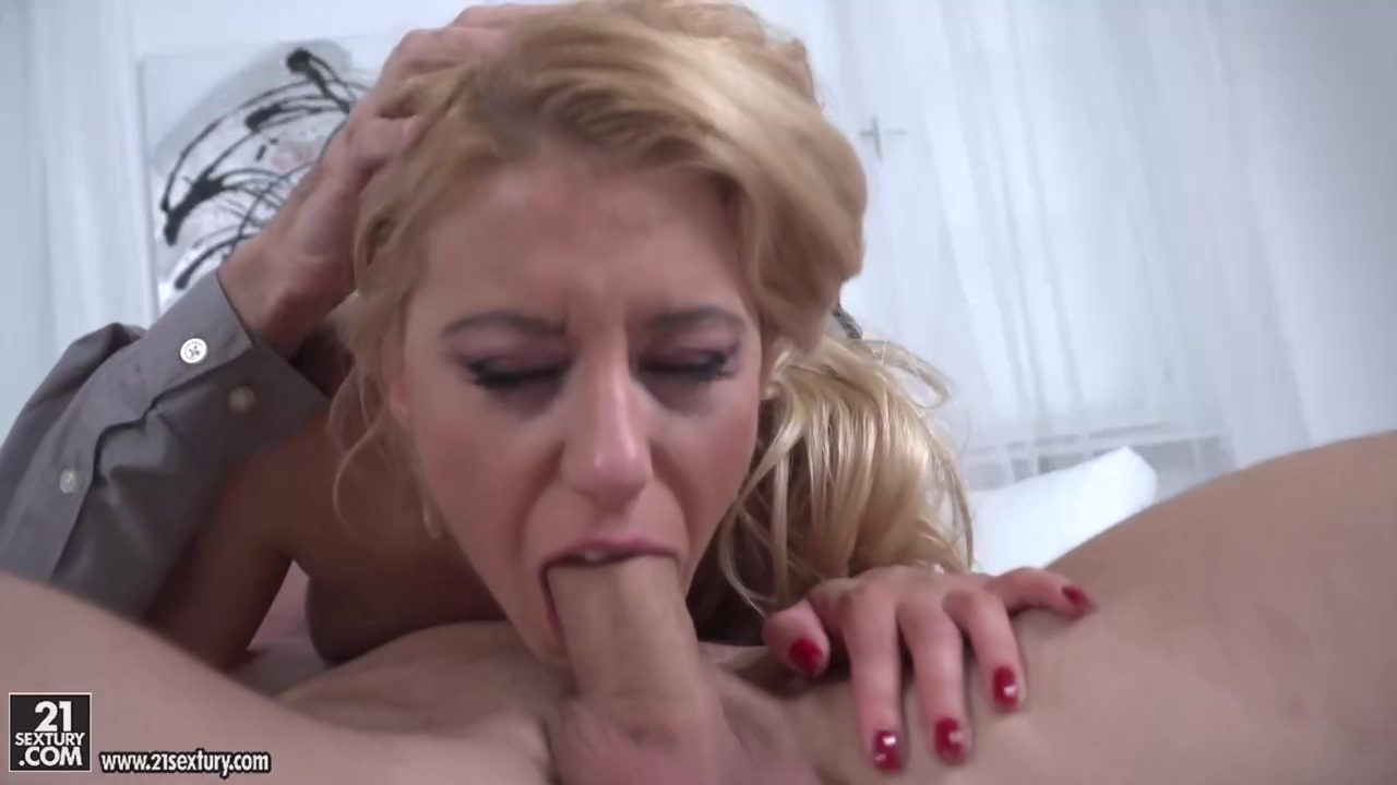 Delightful Blonde In A Floral Dress Nikky Thorne Is Eagerly Sucking A Huge Dick Like A Pro
