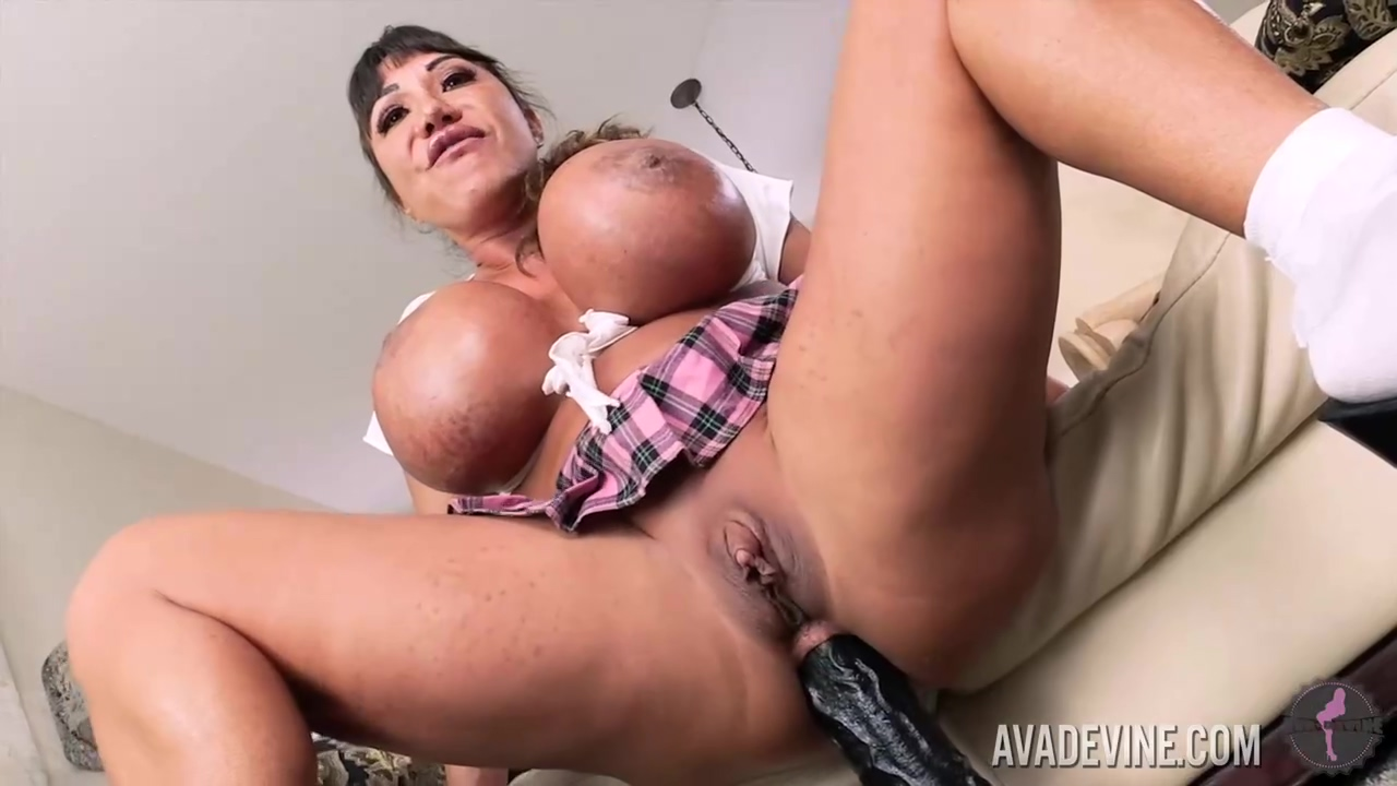 Ava Devine Is Wearing A Seductive Schoolgirl Outfit While Playing With A Fucking Machine And Sex Toys